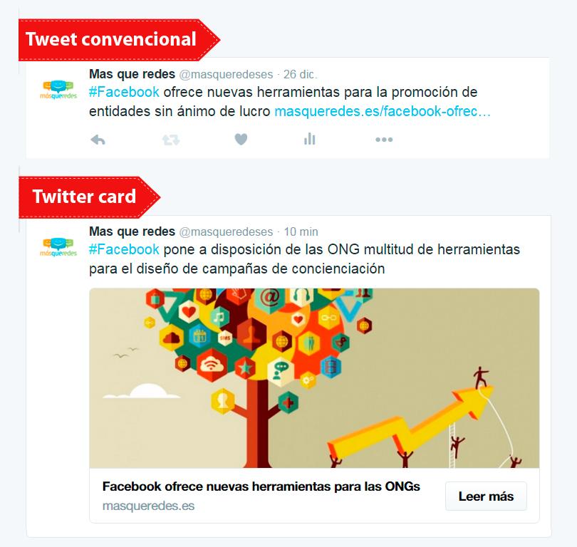Twitter Cards más difusión
